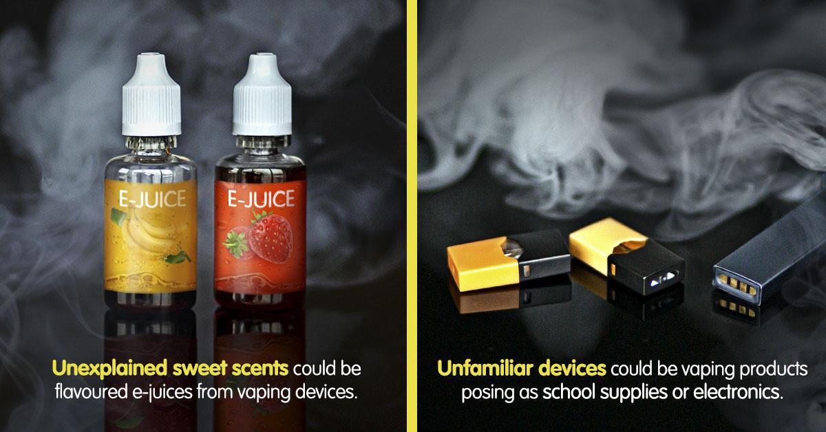 Unexplained sweet scents – Unfamiliar devices